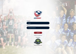 USA rugby login sample screenshot