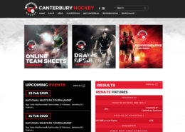 Canterbury Field Hockey NZ website developed by SportLoMo